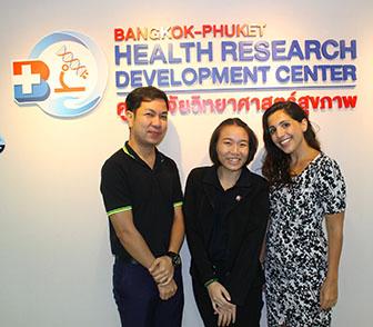 Part of the research team at Bangkok Hospital Phuket